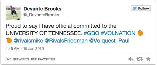 Davante Brooks Commitment