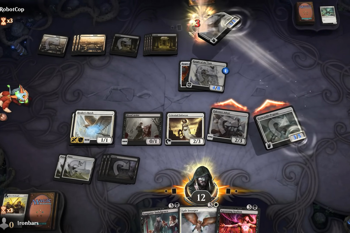 A bunch of Magic The Gathering cards in MTG Arena, Jumpstart