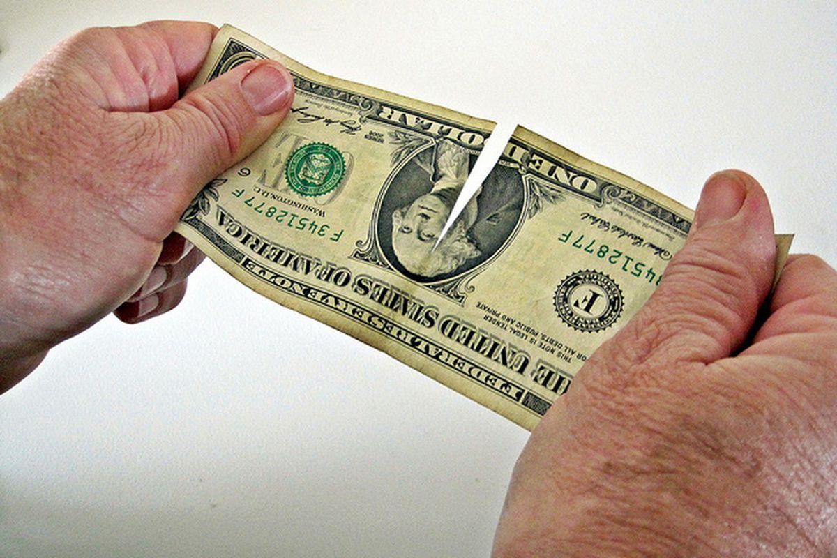 American money tearing - flickr