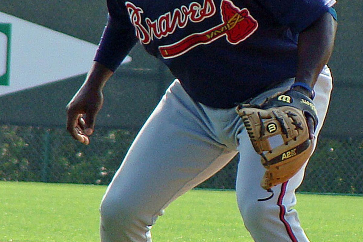 Braves second base prospect Travis Jones.