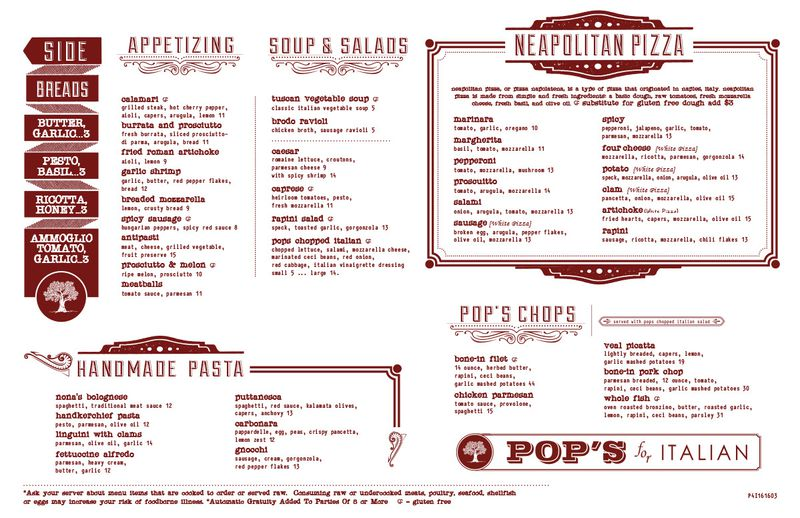 Neapolitan Pizza Hits 9 Mile: Behold The Pop'S For Italian Menu
