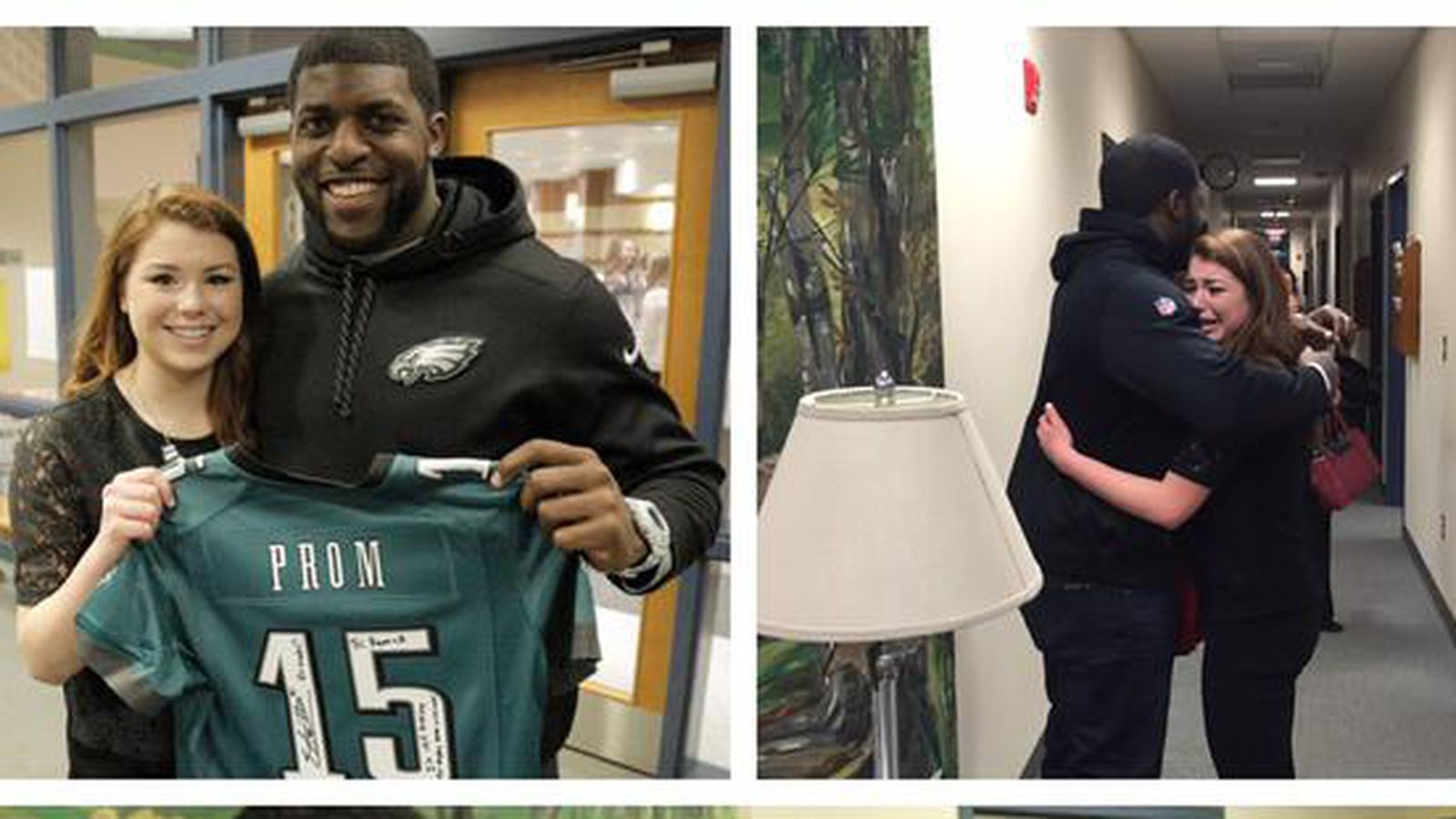 How To Recall An Email >> Emmanuel Acho shows up at high school to surprise his Eagles fan prom date - Bleeding Green Nation