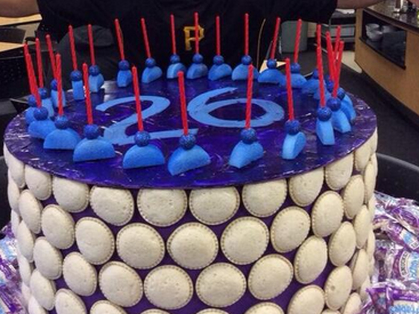 Adult Athlete Receives Birthday Cake Made Out Of Uncrustables