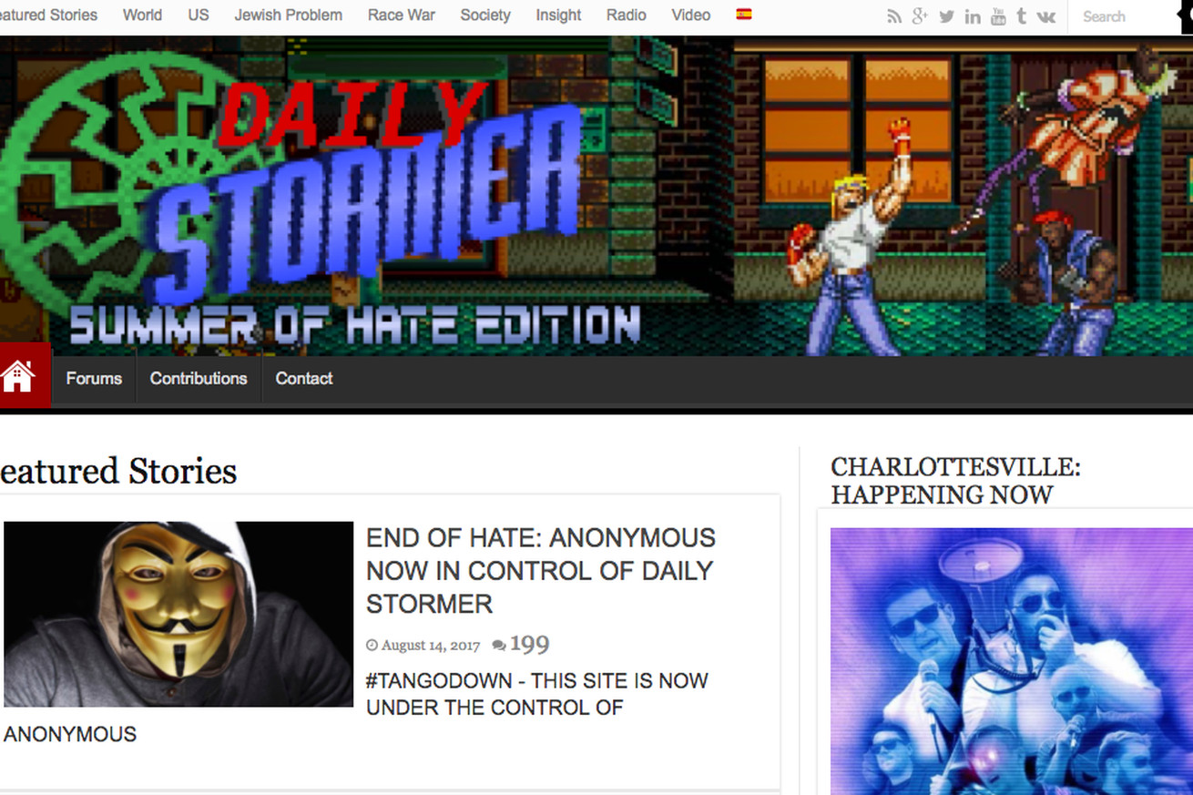 neo nazi site daily stormer threatened by hosting providers and possible hackers