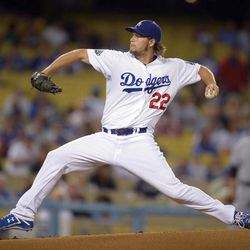 Los Angeles Dodgers starting pitcher Clayton Kershaw throws to a Colorado Rockies batter during the first inning of a baseball game Friday, Sept. 28, 2012, in Los Angeles.