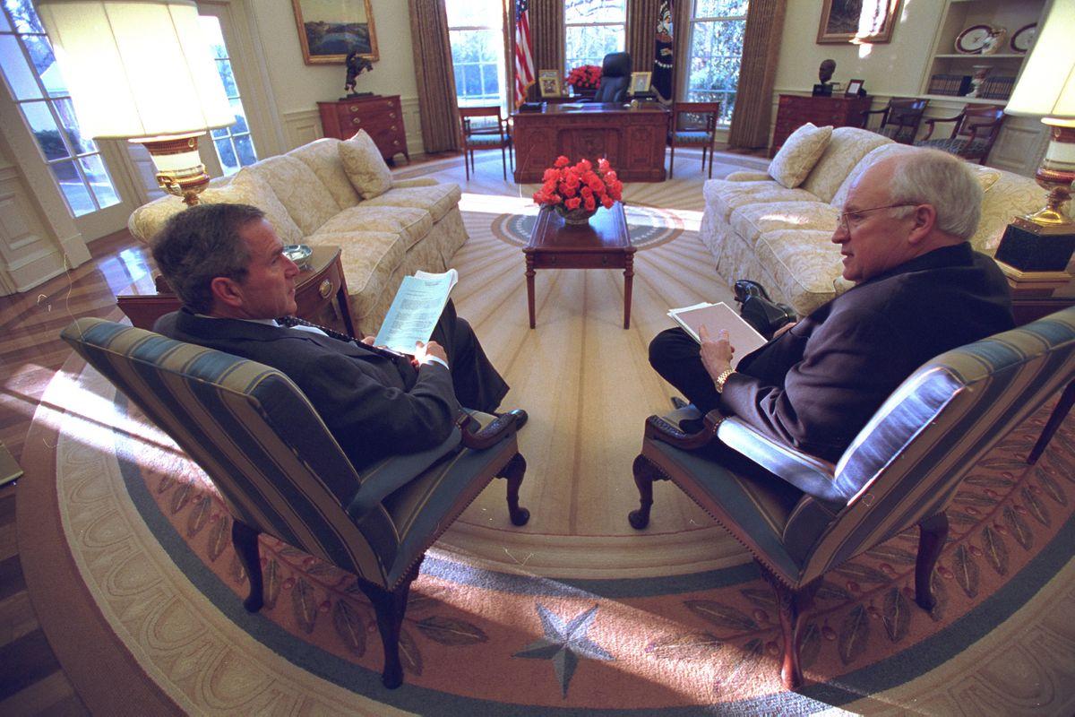 Vice President Cheney With President George W. Bush