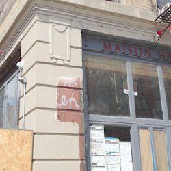 """Maison Harlem at 341 St. Nicholas. [<a href=""""http://harlembespoke.blogspot.com/2012/08/eat-signs-up-at-maison-harlem.html"""">Harlem + Bespoke</a>]"""