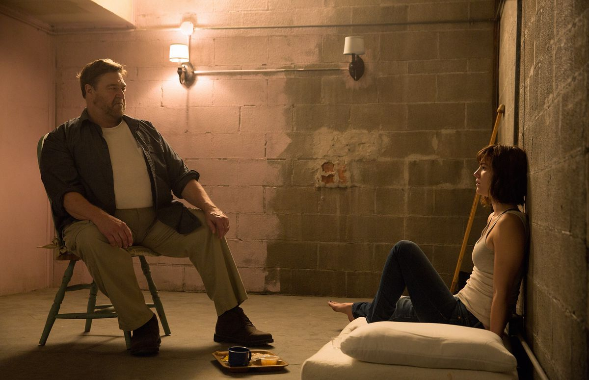 Howard and Michelle in 10 Cloverfield Lane