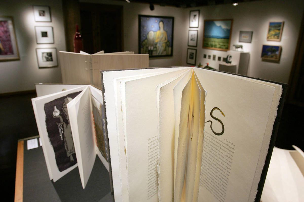 """Mark Strand's """"A Poet's Alphabet of Influences"""" at the Words and Images exhibit at the Phillips Gallery in 2004."""