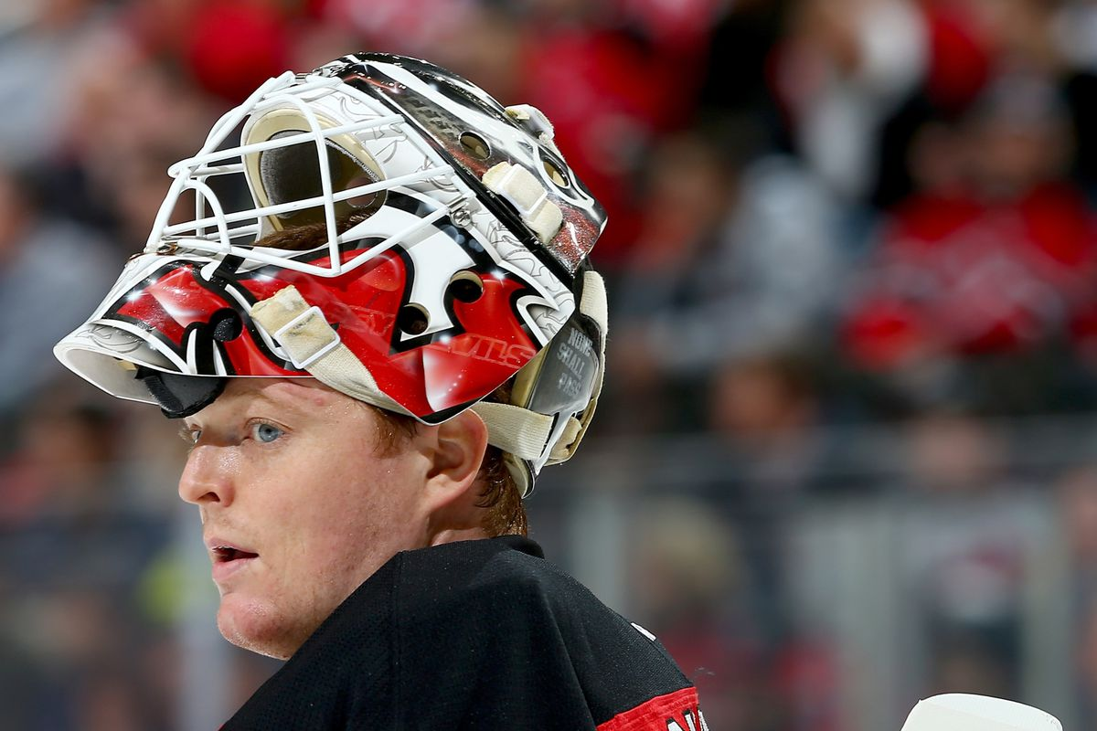 Cory Schneider deserved better.  Note: This picture was from the 1/24 game against the Caps.