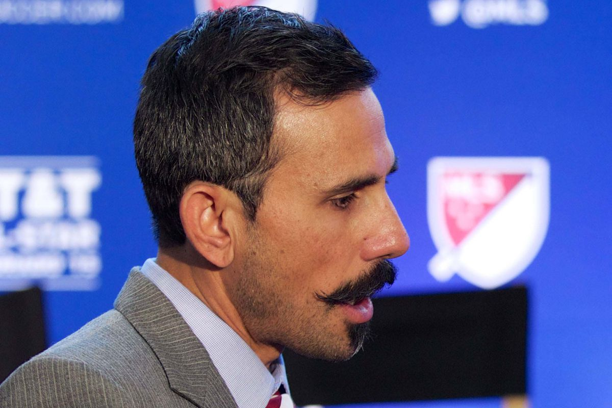 Pablo Mastroeni is ready for the Sons of Ben's Stache Bash.