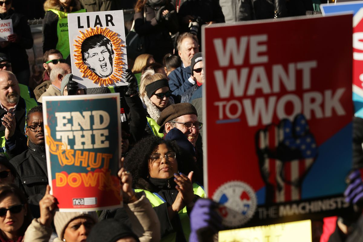 Union Organizers In Washington, D.C. Hold Rallies Calling For End To Government Shutdown