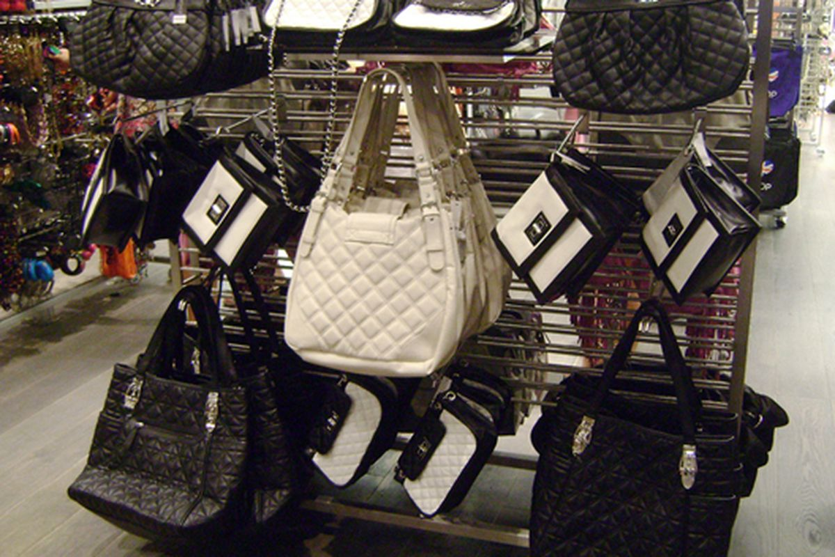 """Chanel and Marc Jacobs knock-offs at Topshop via <a href=""""http://www.flickr.com/photos/jetsetcd/3831416668/"""">Jetsetcd</a>/Racked Flickr Pool"""