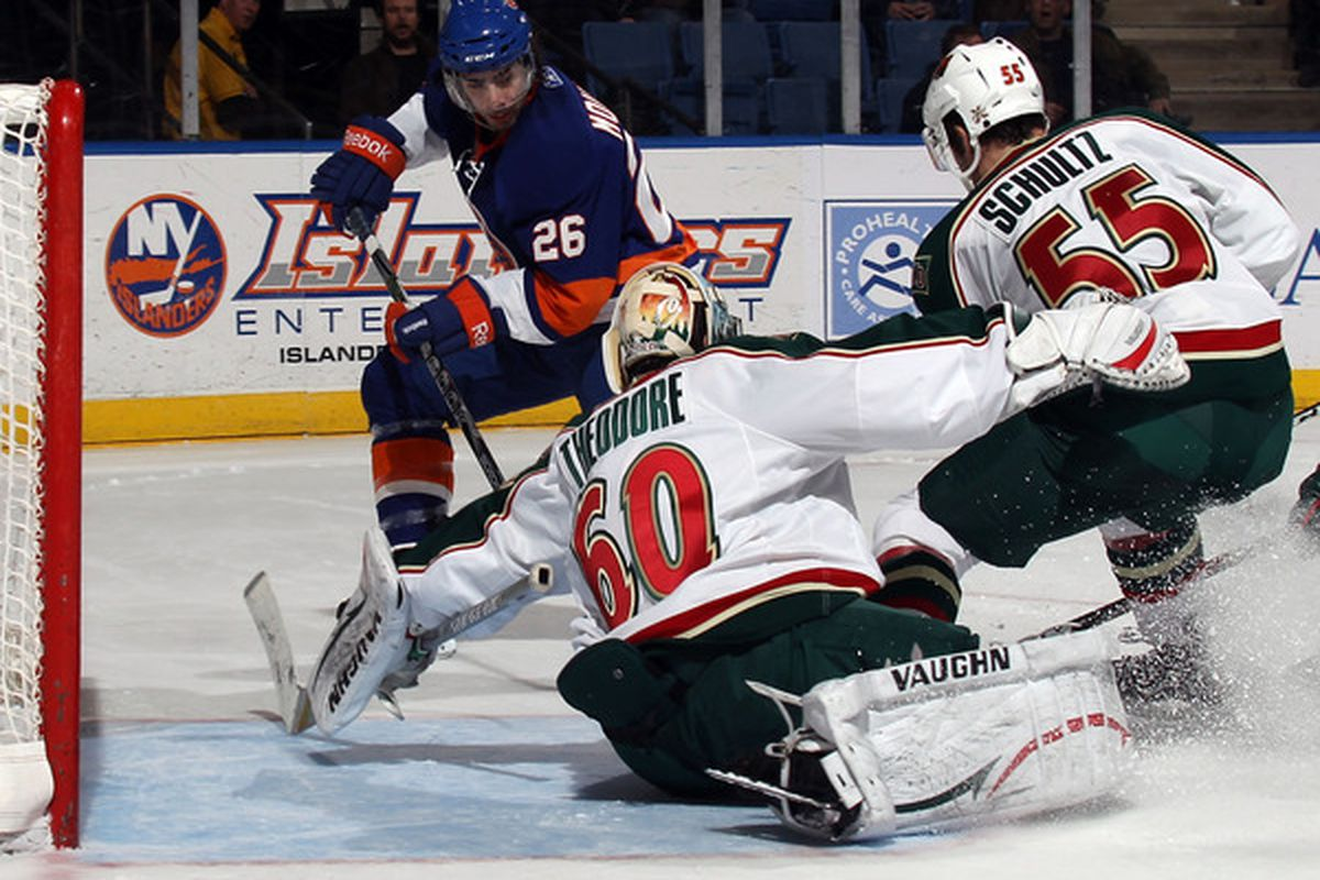 Jose Theodore also didn't spill any beer making this save.