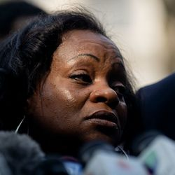 Julia Jackson, Jacob Blake's mom, speaks during a press conference Tuesday afternoon, Aug. 25, 2020. Police shot Blake at least seven times in the back Sunday as he was breaking up a fight, according to his attorneys.