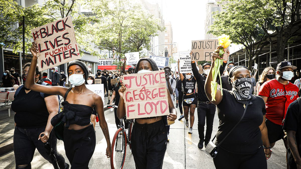 Protests over George Floyd's death by a Minneapolis police officer ...