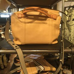 Leather bag in bad lighting, $250
