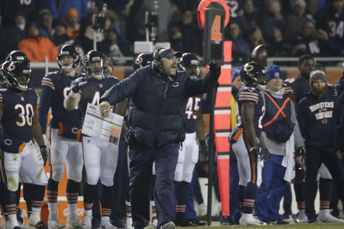 reputable site 10414 27849 Matt Nagy visor: Bears coach receives national attention for ...