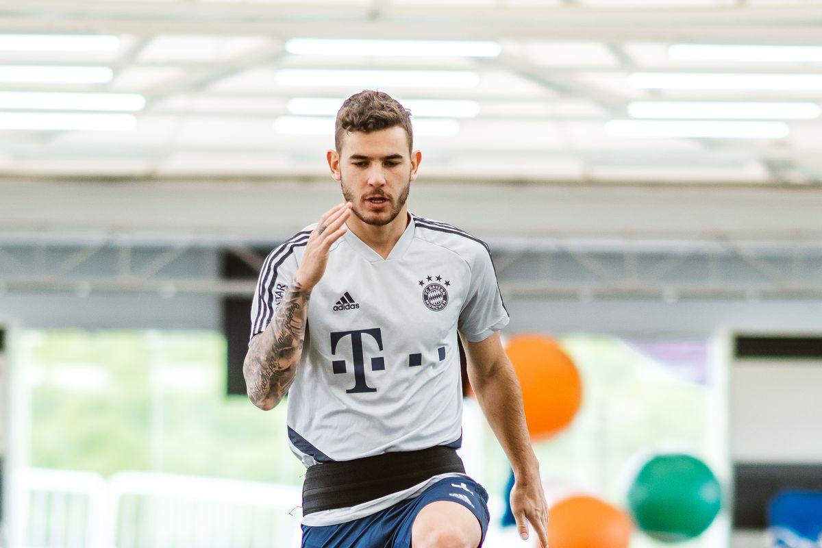 Lucas Hernandez Rehab Training At FC Bayern Muenchen Doha Training Camp