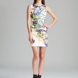 """Clover Canyon's wildly-printed neoprene numbers won't show spills, and they're ultra-flattering. This Floral Maze style is no exception. $268 at <a href=""""http://www1.bloomingdales.com/shop/product/clover-canyon-dress-floral-maze?ID=918618&CategoryID=2911&"""