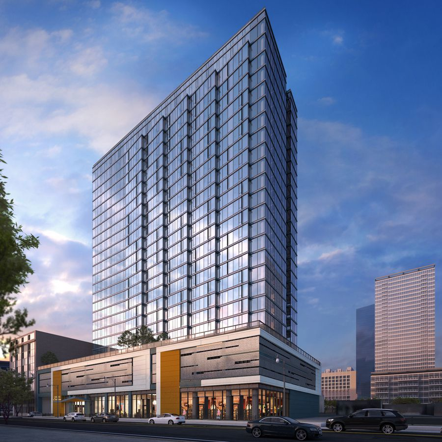 Dual 24 Story Apartment Towers Debut At 8th Spring: Construction: 24-story McCormick Square Apartment Tower