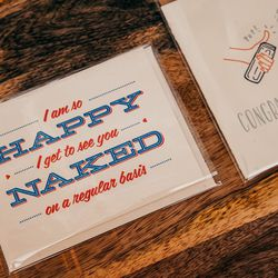 Happy to see you naked card, $4