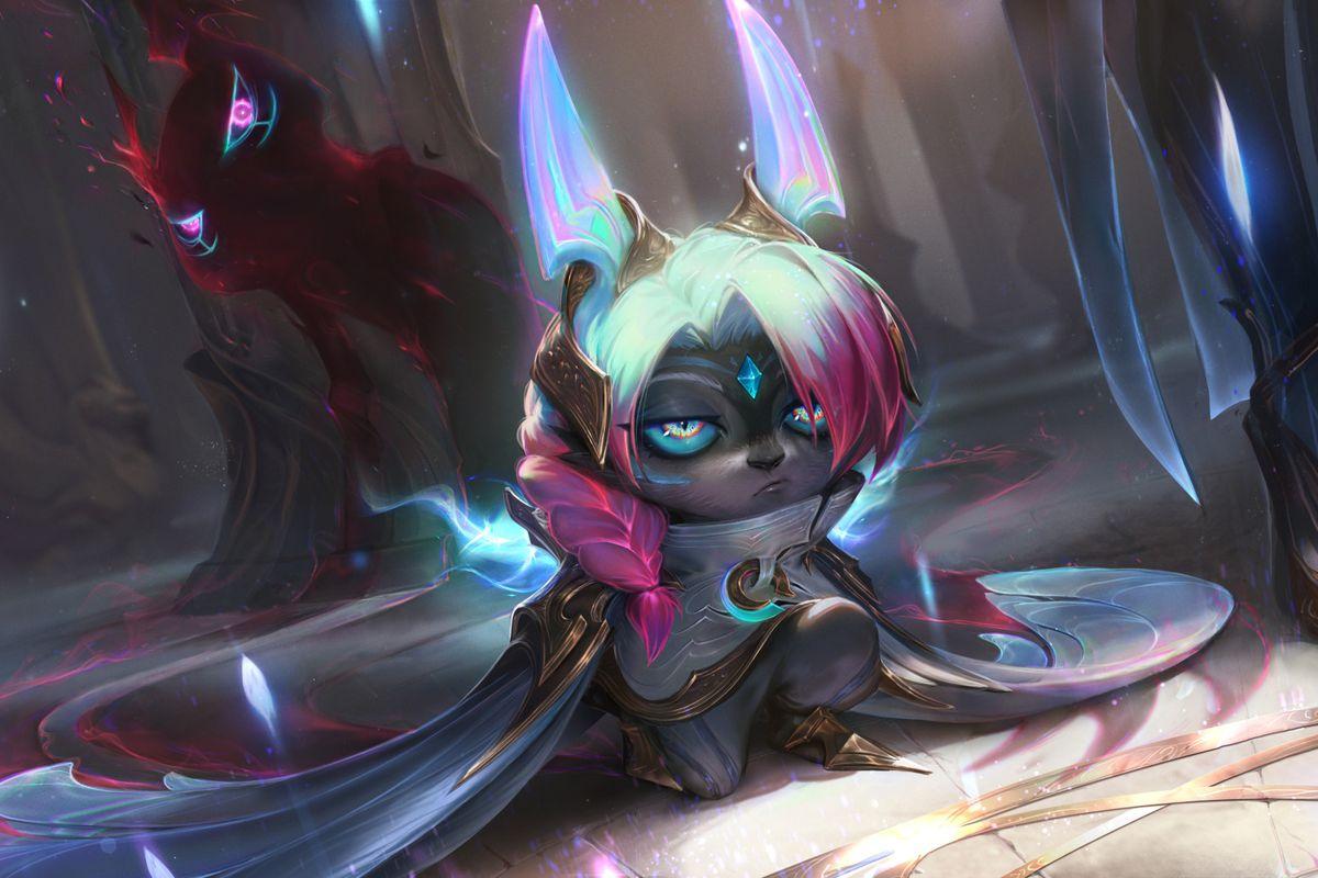 Vex from League of Legends in her Dawnbringer skin