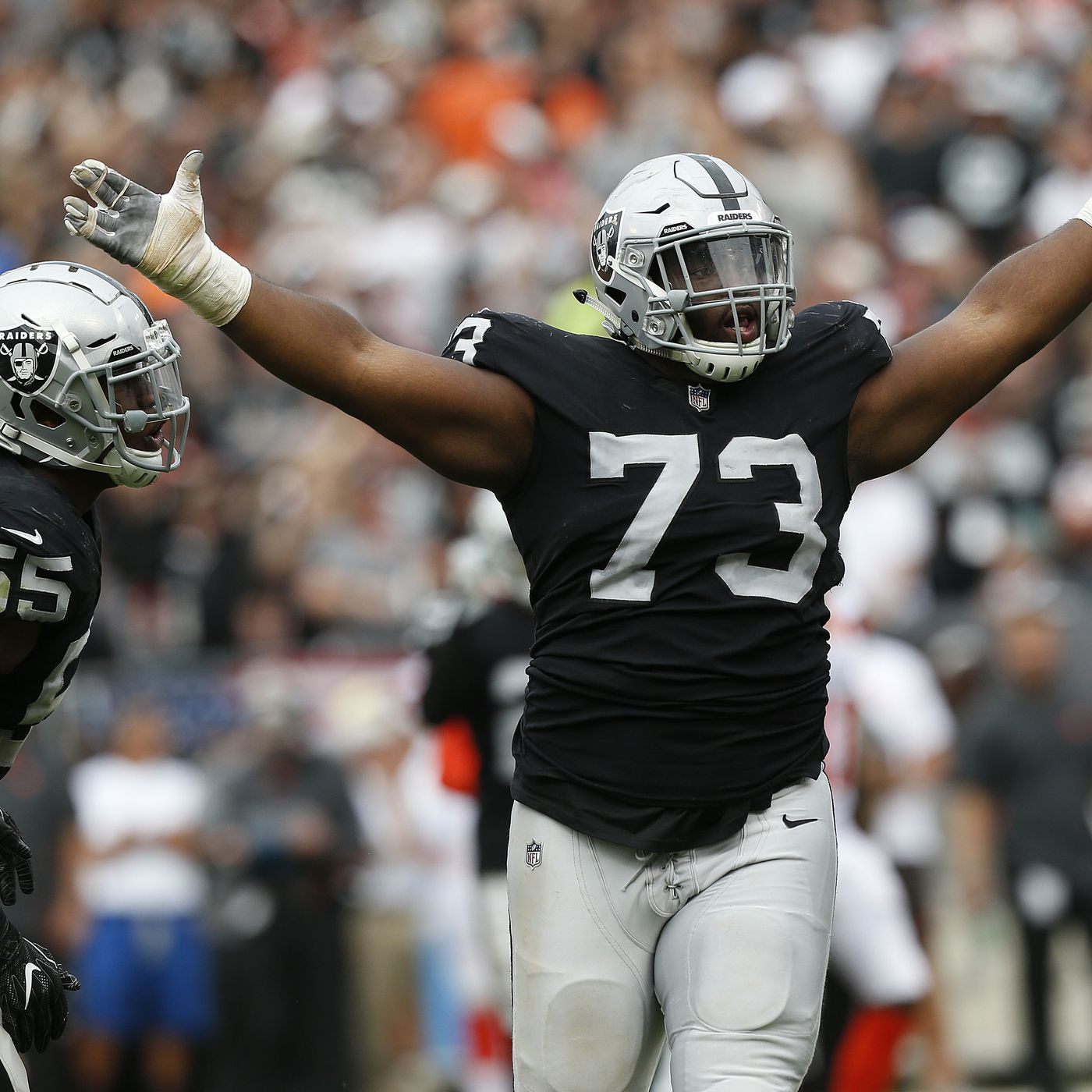 hot sale online 2e159 c0dc4 Mo Hurst strip-sack and more wounded UM Alums during NFL ...