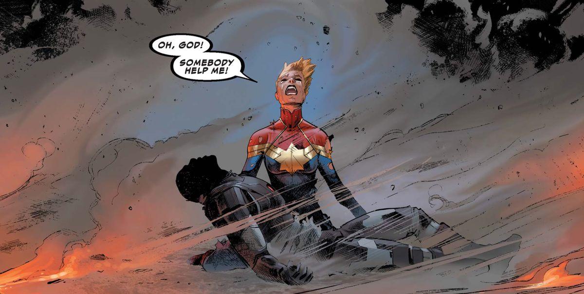 Captain Marvel and War Machine in Civil War II #1, Marvel Comics (2016).
