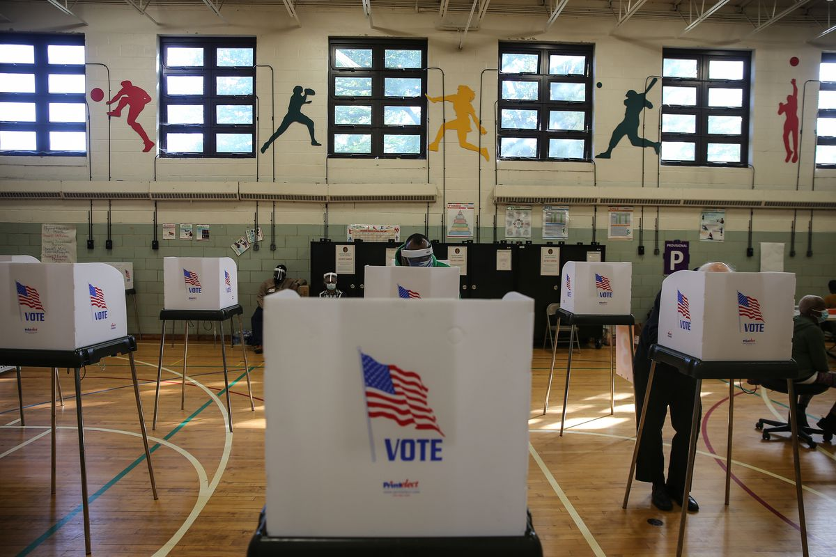 Voters Go The Polls On Election Day In Baltimore