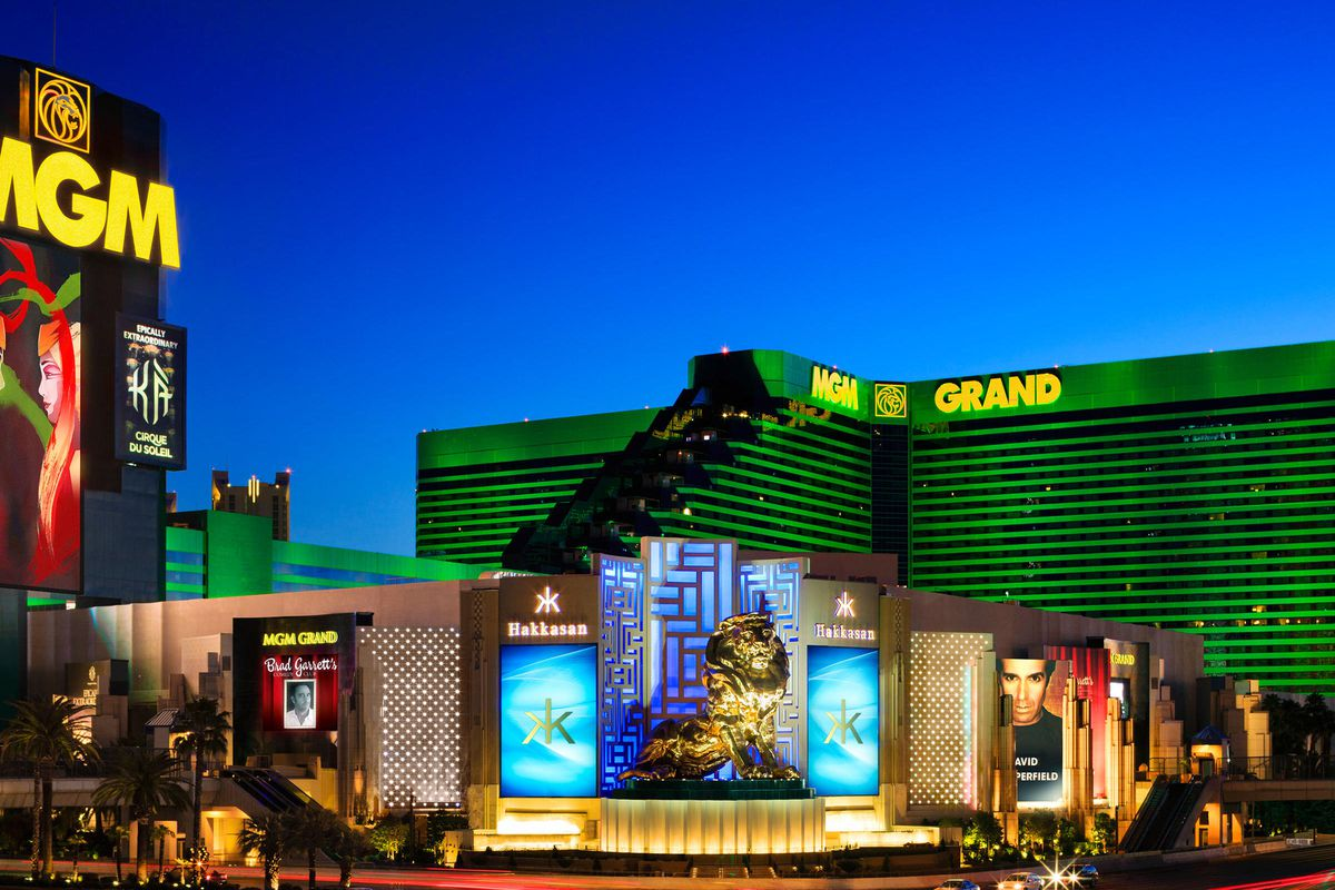 The front of the MGM Grand