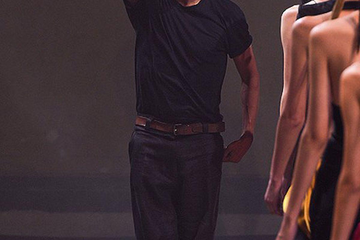 """Haider Ackermann at his spring 2011 show in Paris, via <a href=""""http://www.elle.com/Runway/Ready-to-Wear/Spring-2011-RTW/HAIDER-ACKERMANN/HAIDER-ACKERMANN/(imageIndex)/34/(mode)/fullscreen"""">Elle.com</a>"""