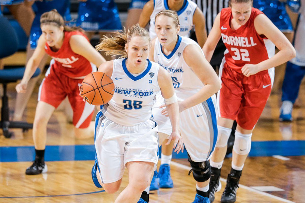 Mackenzie Loesing turns upcourt for Buffalo against Cornell