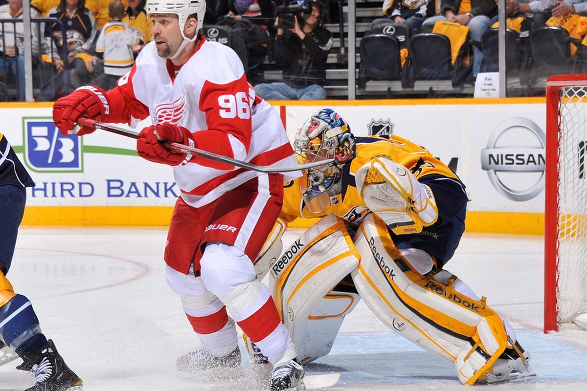 The Red Wings vow to do a lot more of this tonight.