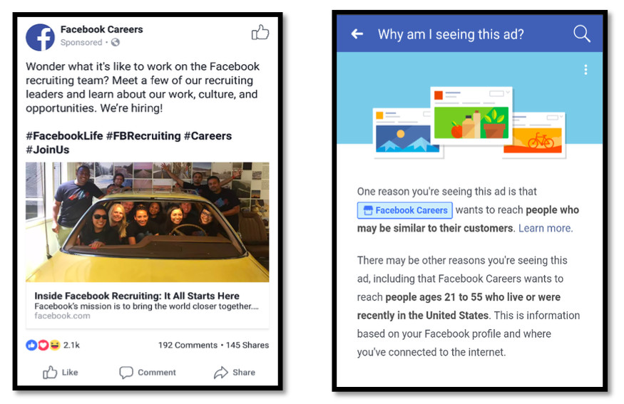 Facebook Job Ads Eeoc Says Targeted Job Ads Discriminate