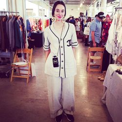 """Liz Baca (aka <a href=""""http://instagram.com/busyladybaca""""target=""""_blank"""">@busyladybaca</a>) of The Goods. Yes, she's wearing head-to-toe vintage Chanel."""