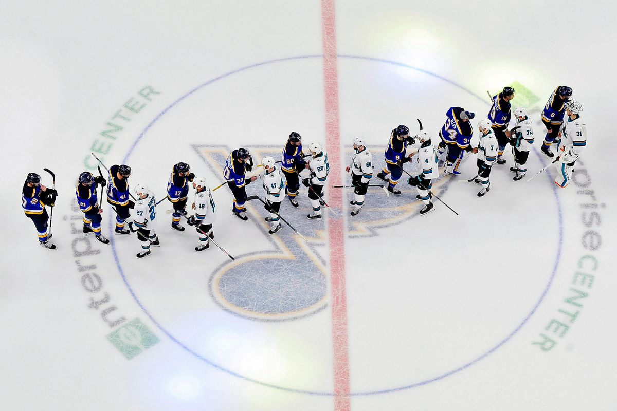 NHL: Stanley Cup Playoffs-San Jose Sharks at St. Louis Blues game 6 of western conference final