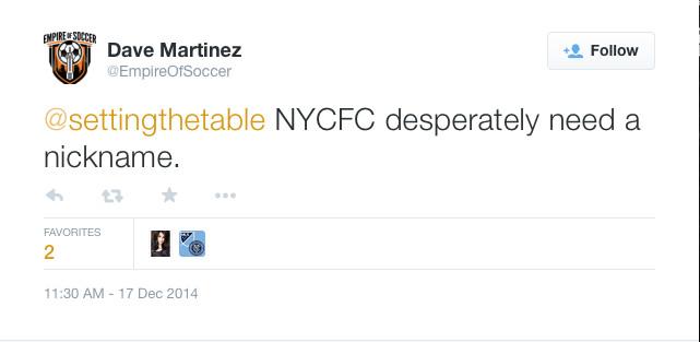 NYCFC nickname