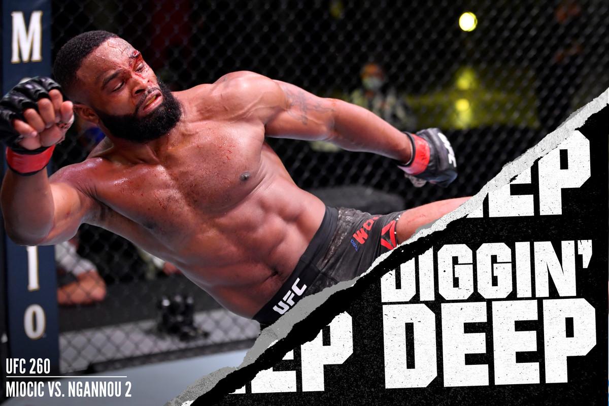 Tyron Woodley who fights Gilbert Burns at UFC Vegas 1