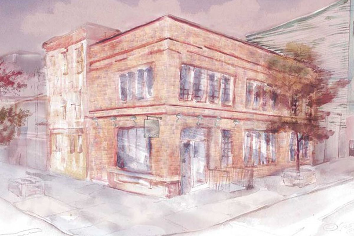 A rendering of the Williamsburg store