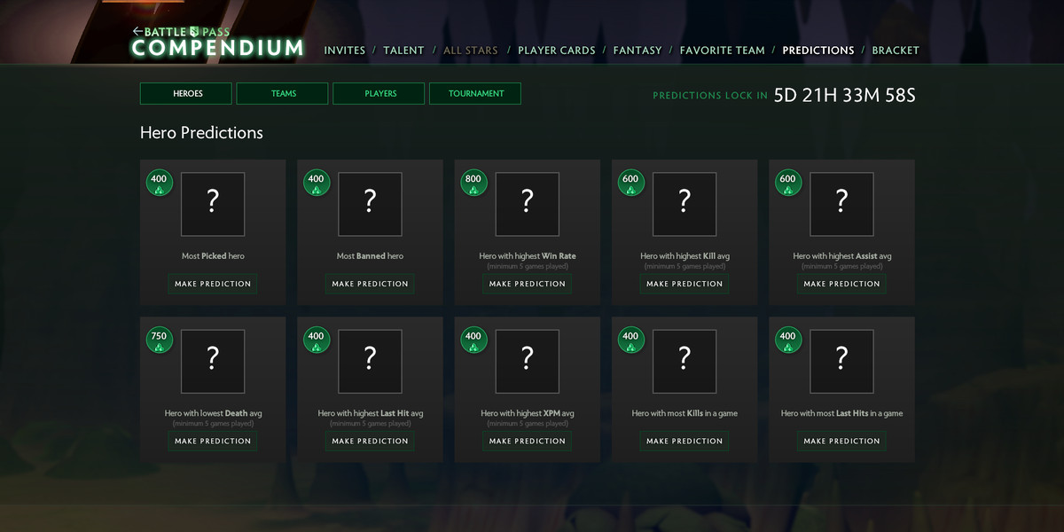 How to make Compendium predictions for The International 8 - The