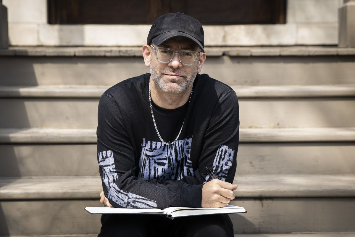 Kevin Coval near his home in Uptown.