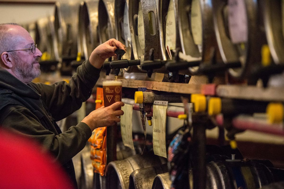 Drinkers Visit The London Beer And Cider Festival