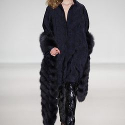 The woven fur scarf from Pamella Roland. [Image credit: Getty Images/JP Yim]