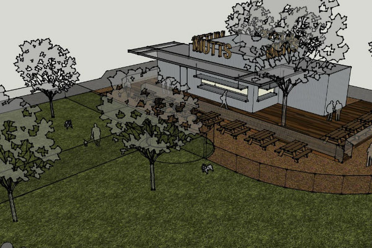 Artist's rendering of Mutts Cantina.