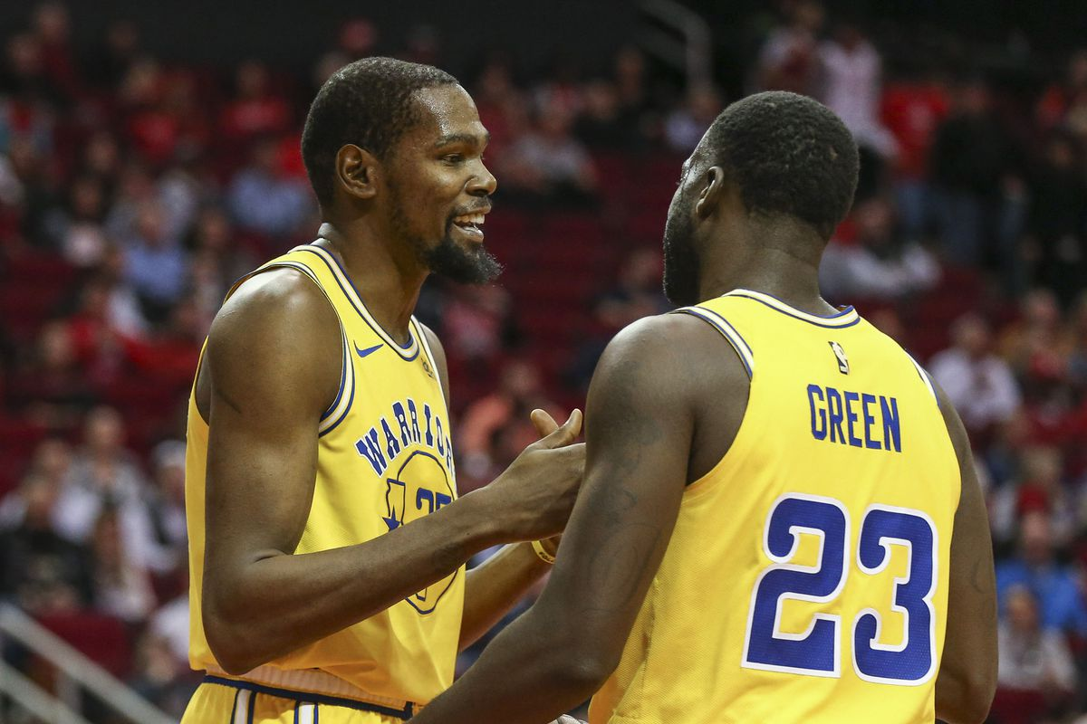 89e2dec075f4 Kevin Durant and Draymond Green appear to be moving on from their  confrontation on Monday