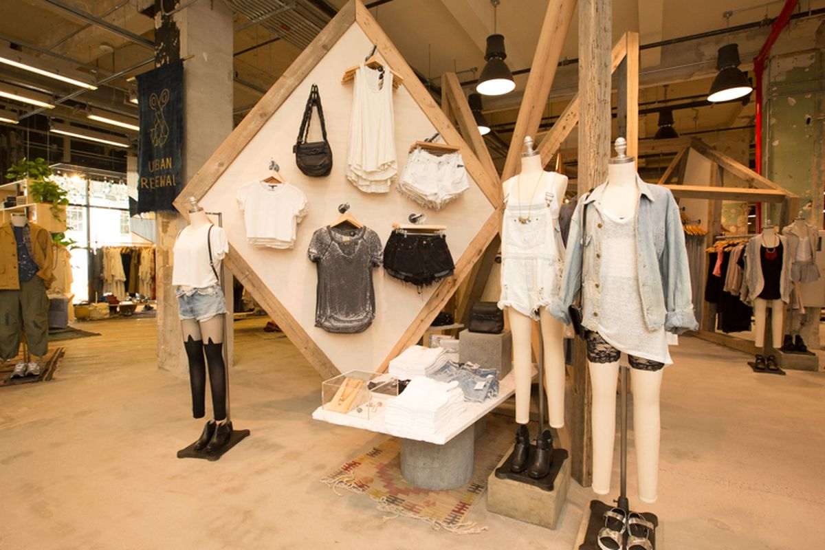 Inside Urban Outfitters' new NYC concept store. Photo via Racked NY.