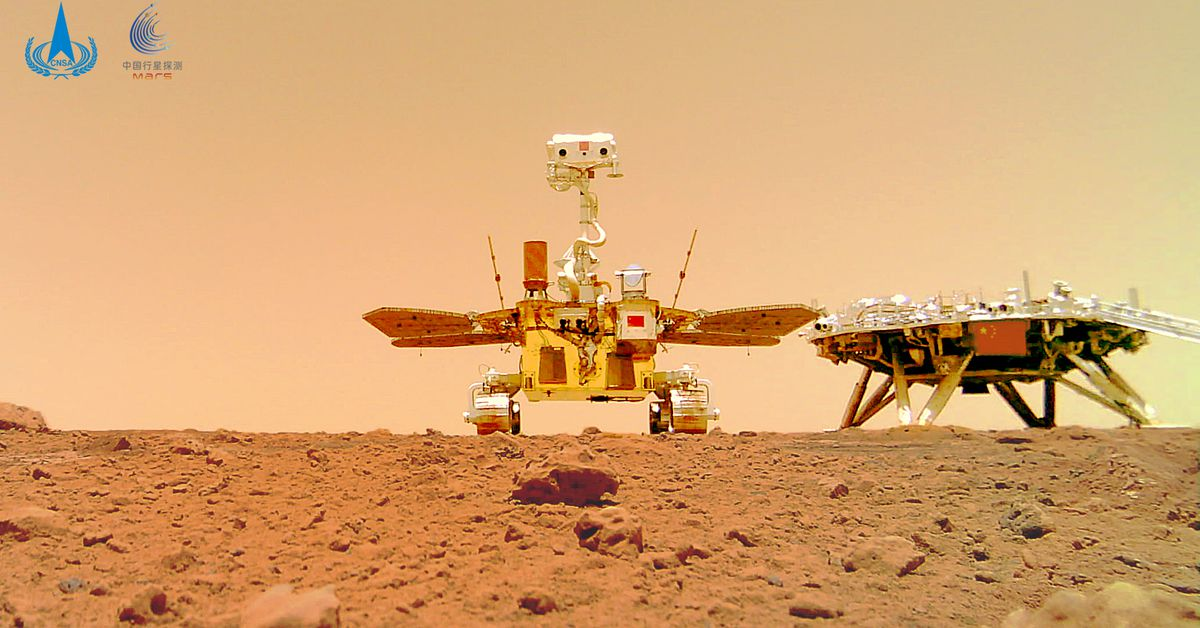 China's Zhurong rover sends a selfie from Mars – The Verge