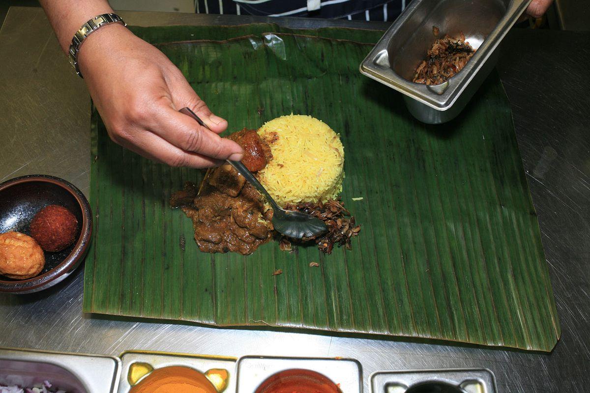 Dried prawn balchan is added to lamprais