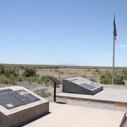 The memorial site at the World War II Japanese-American Topaz Internment Camp. The internment camp site is located about 15 miles from the newly remodeled Topaz Museum in Delta, which commemorates survivors of the camp.